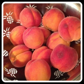 vivid peach picked
