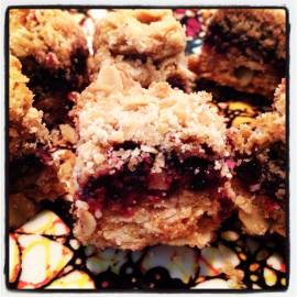 marionberry oatmeal bars